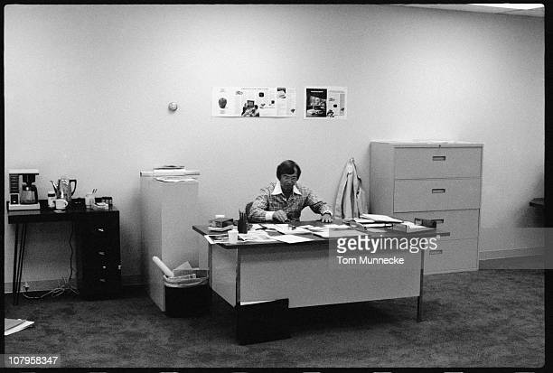 FinnishAmerican businessman Mike Markkula sits at his desk in April 1977 Markkula was one the first investors Apple Inc and its second CEO