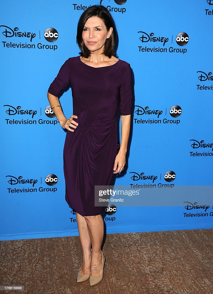 Finola Hughes arrives at the 2013 Television Critics Association's Summer Press Tour - Disney/ABC Party at The Beverly Hilton Hotel on August 4, 2013 in Beverly Hills, California.