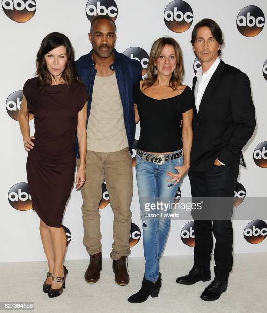 Finola Hughes Donnell Turner Nancy Lee Grahn and Michael Easton attend the Disney ABC Television Group TCA summer press tour at The Beverly Hilton...