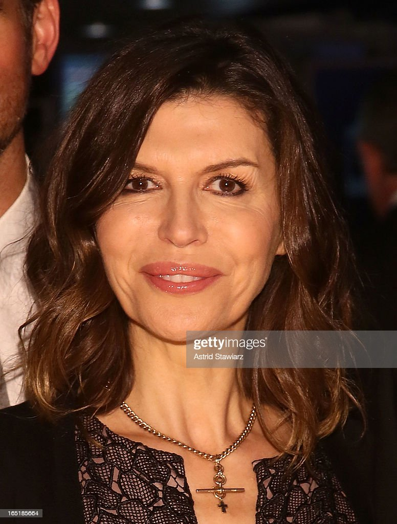 Finola Hughes of ABC's soap opera General Hospital rings the opening bell at the New York Stock Exchange on April 1, 2013 in New York City.