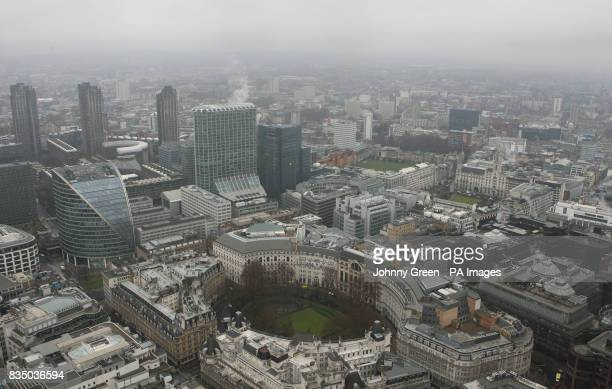 Finsbury Circus from the top of Tower 42 in the City of London