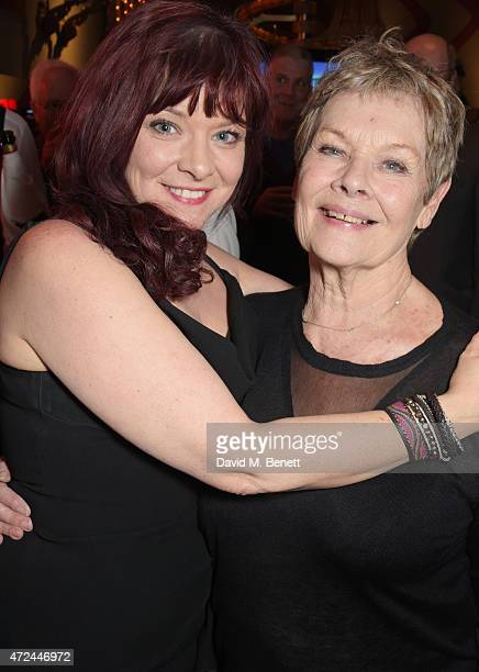 Finty Williams and Dame Judi Dench celebrate following the live broadcast of The Donmar Warehouse's production of 'The Vote' at the Ham Yard Hotel...