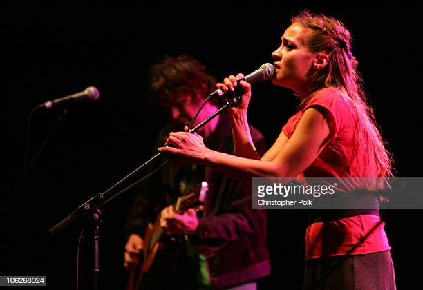 Fiona Apple during The Benefit Concert for Katrina Relief with Tenacious D September 22 2005 at Wiltern Theater LG in Los Angeles California United...