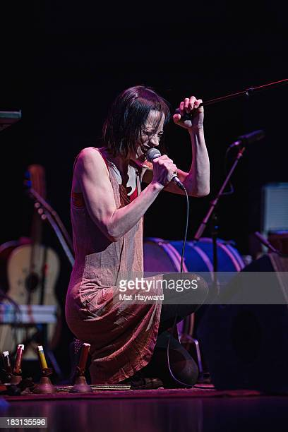 Fiona Apple performs on stage at Benaroya Hall on October 4 2013 in Seattle Washington