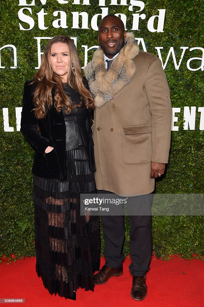 Fiona Barratt-Campbell and <a gi-track='captionPersonalityLinkClicked' href=/galleries/search?phrase=Sol+Campbell&family=editorial&specificpeople=160749 ng-click='$event.stopPropagation()'>Sol Campbell</a> attend the London Evening Standard British Film Awards at Television Centre on February 7, 2016 in London, England.