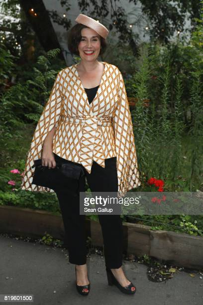 Fiona Bennett arrives for a reception with creatives at 'Claerchens Ballhaus' the last original dancehall in Berlin on the second day of royal...