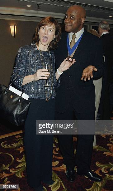 Fiona Bruce and Ainsley Harriott attend the Television Radio Industries Club Awards at Grosvenor House on March 7 2006 in London England The awards...
