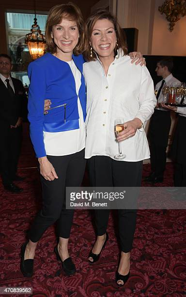 Fiona Bruce and Kate Silverton attend as Audi hosts the opening night performance of 'La Fille Mal Gardee' at The Royal Opera House on April 23 2015...