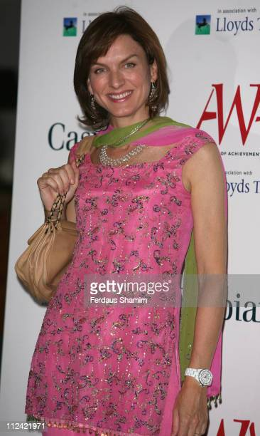 Fiona Bruce during The Asian Women of Achievement Awards Arrivals at London Hilton on Park Lane in London United Kingdom