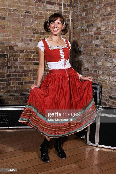 Fiona Bruce of the BBC news team poses ahead of the performance at the 'Newsroom�s Got Talent' event held in aid of Leonard Cheshire Disability and...