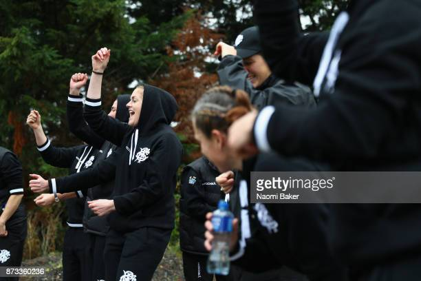 Fiona Coghlan and the team go for a pre match walk and sing a traditional irish song ahead of the Inaugural Representative Match between Barbarians...