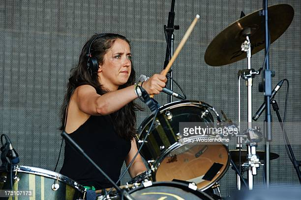 Fiona Daniel of The Whip performs on stage at Live From Jodrell Bank at Jodrell Bank on July 7 2013 in Manchester England