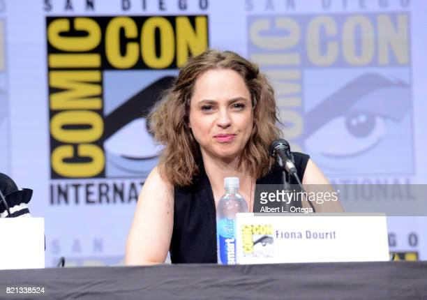 Fiona Dourif at Dirk Gently's Holistic Detective Agency BBC America Official Panel during ComicCon International 2017 at San Diego Convention Center...