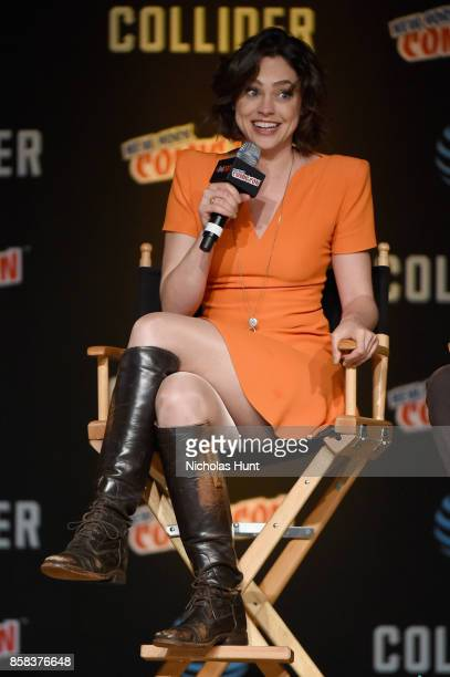 Fiona Dourif speaks onstage during the Dirk Gently's Holistic Detective Agency BBC AMERICA Official Panel during 2017 New York Comic Con on October 6...