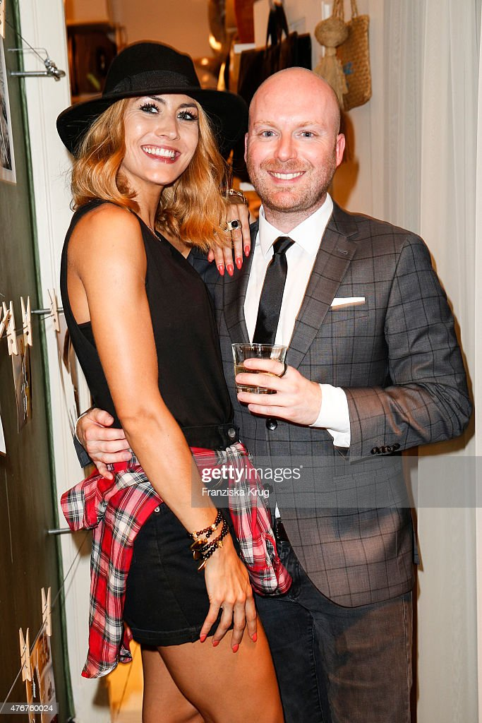 Fiona Erdmann and Chris Goetz attend the 'Lobby for a Weekend' Cocktail Prologne In Berlin on June 11 2015 in Berlin Germany
