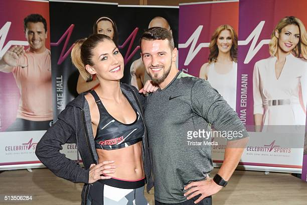 Fiona Erdmann and Felix Bauer perform at the Celebrity Sports Workshop at Edel Haus on March 3 2016 in Hamburg Germany