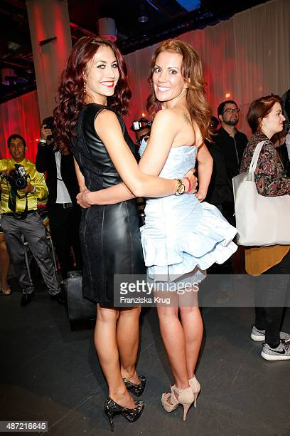 Fiona Erdmann and Kerstin Linnartz attend the 9th Victress Awards Gala at andels Hotel Berlin on April 28 2014 in Berlin Germany