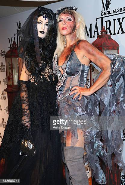 Fiona Erdmann and Natascha Ochsenkencht attend the Halloween party by Natascha Ochsenknecht at Berlin Dungeon on October 27 2016 in Berlin Germany