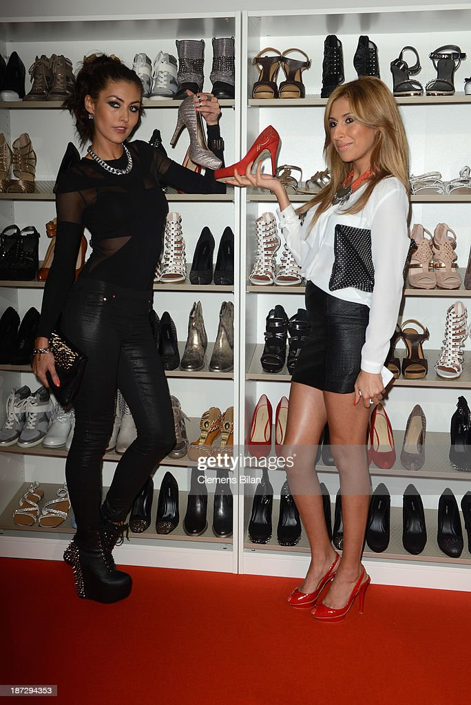 Fiona Erdmann and Senna Guemmour attend the Deichmann Shoe Step of the Year 2013 at Curio Haus on November 7, 2013 in Hamburg, Germany.