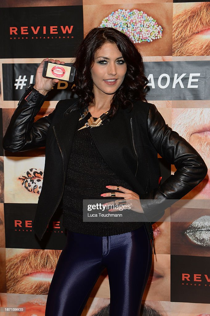 Fiona Erdmann attends 1st European Urban Karaoke Event at Trust Bar on November 6 2013 in Berlin Germany