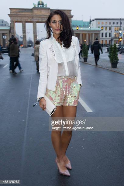 Fiona Erdmann attends the Glaw show during MercedesBenz Fashion Week Autumn/Winter 2014/15 at Brandenburg Gate on January 16 2014 in Berlin Germany