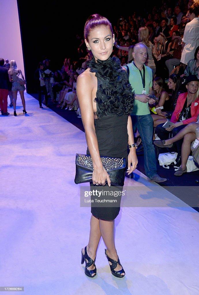Fiona Erdmann attends the Irene Luft Show during the Mercedes-Benz Fashion Week Spring/Summer 2014 at Brandenburg Gate on July 4, 2013 in Berlin, Germany.