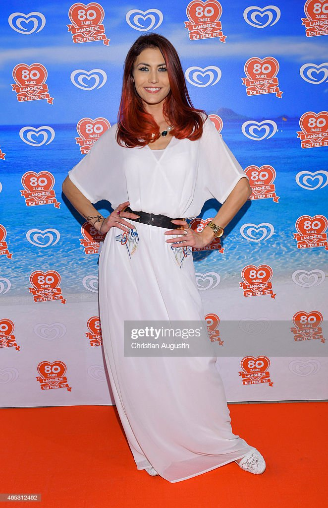 Fiona Erdmann attends the Langnese 80th Anniversary Celebration at Beach Centre Wandsbek on March 5 2015 in Hamburg Germany