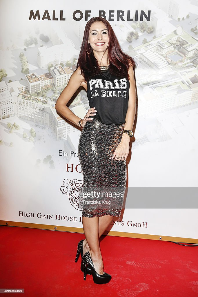Fiona Erdmann attends the 'LP 12 Mall of Berlin' PreOpening on September 24 2014 in Berlin Germany
