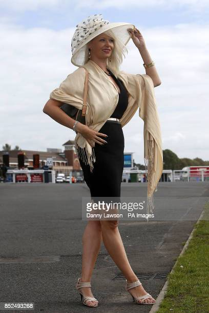 Fiona fairfield enjoys Ladies Day during day two of the William Hill Ayr Gold Cup Festival at Ayr Racecourse