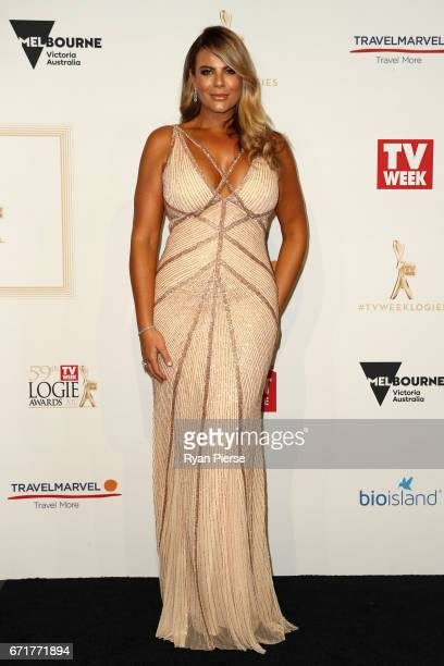 Fiona Falkiner arrives at the 59th Annual Logie Awards at Crown Palladium on April 23 2017 in Melbourne Australia