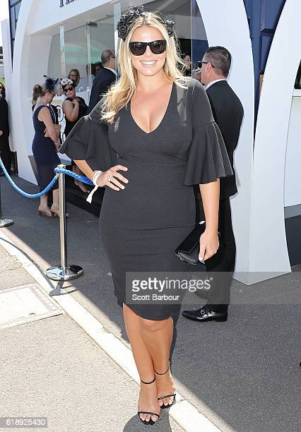 Fiona Falkiner attends on Derby Day at Flemington Racecourse on October 29 2016 in Melbourne Australia