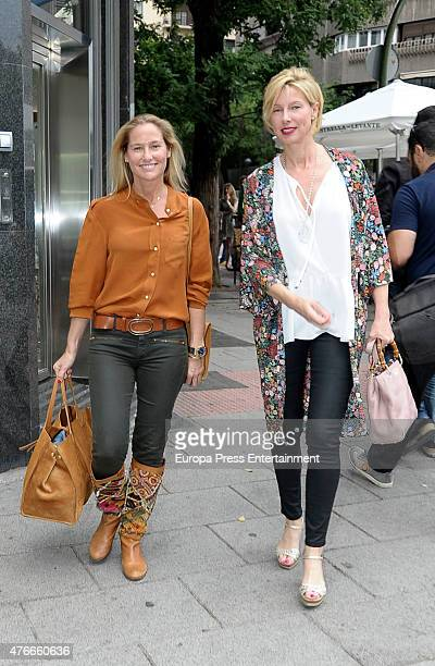 Fiona Ferrer and Anne Igartiburu attend the babyshower party of Gemma RuizCuadrado on June 10 2015 in Madrid Spain