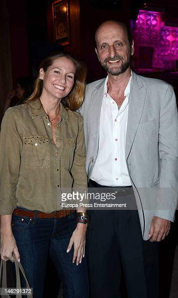 Fiona Ferrer and Jose Miguel Fernandez Sastron attend Manu Tenorio's album presentation 'En Primera Persona' on June 12 2012 in Madrid Spain