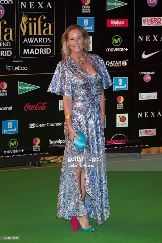 Fiona Ferrer attends the 17th IIFA Awards (International Indian Film Academy Awards) at Ifema on June 25, 2016 in Madrid, Spain.
