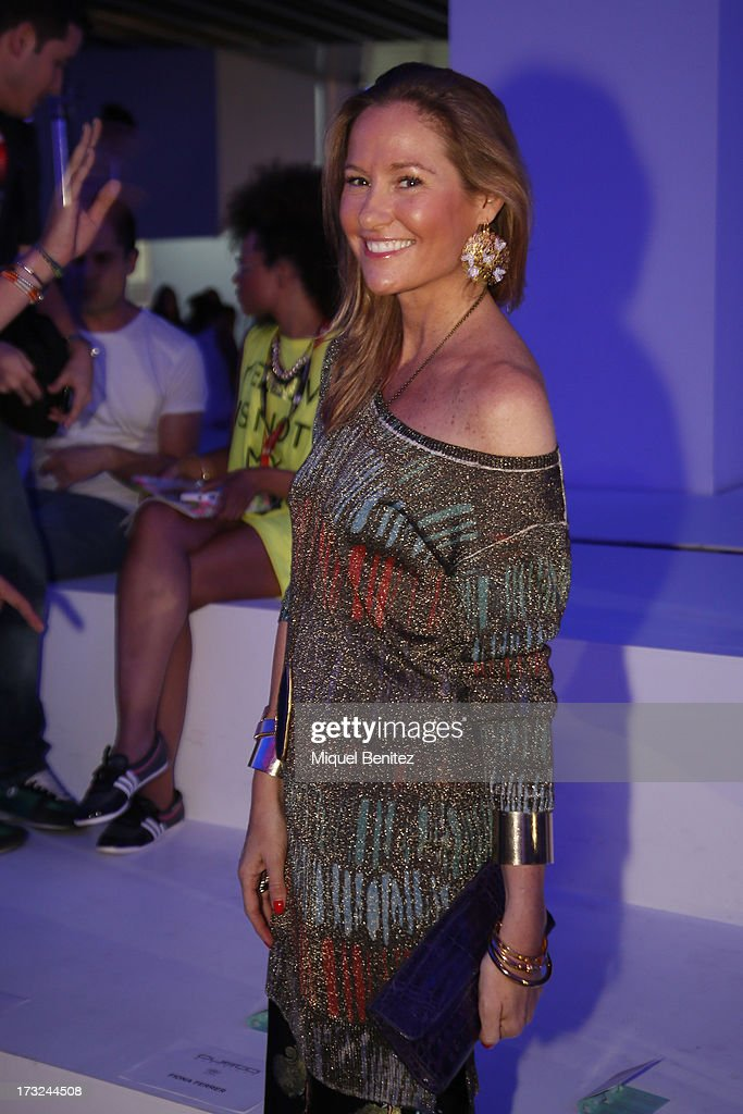 Fiona Ferrer attends the Custo Dalmau's Spring-Summer 2014 Collection during 080 Barcelona Fashion Week on July 10, 2013 in Barcelona, Spain.