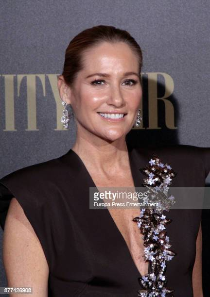 Fiona Ferrer attends the gala 'Vanity Fair Personality of the Year' to Garbine Muguruza at Ritz Hotel on November 21 2017 in Madrid Spain