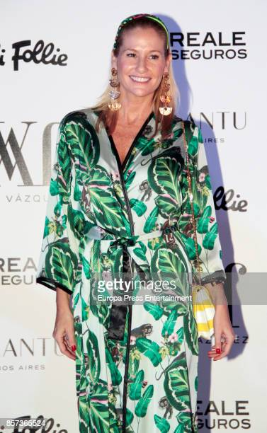 Fiona Ferrer attends the Jorge Vazquez night party during the MercedesBenz Fashion Week Madrid Spring/Summer 2018 at AC Santo Mauro Hotel on...