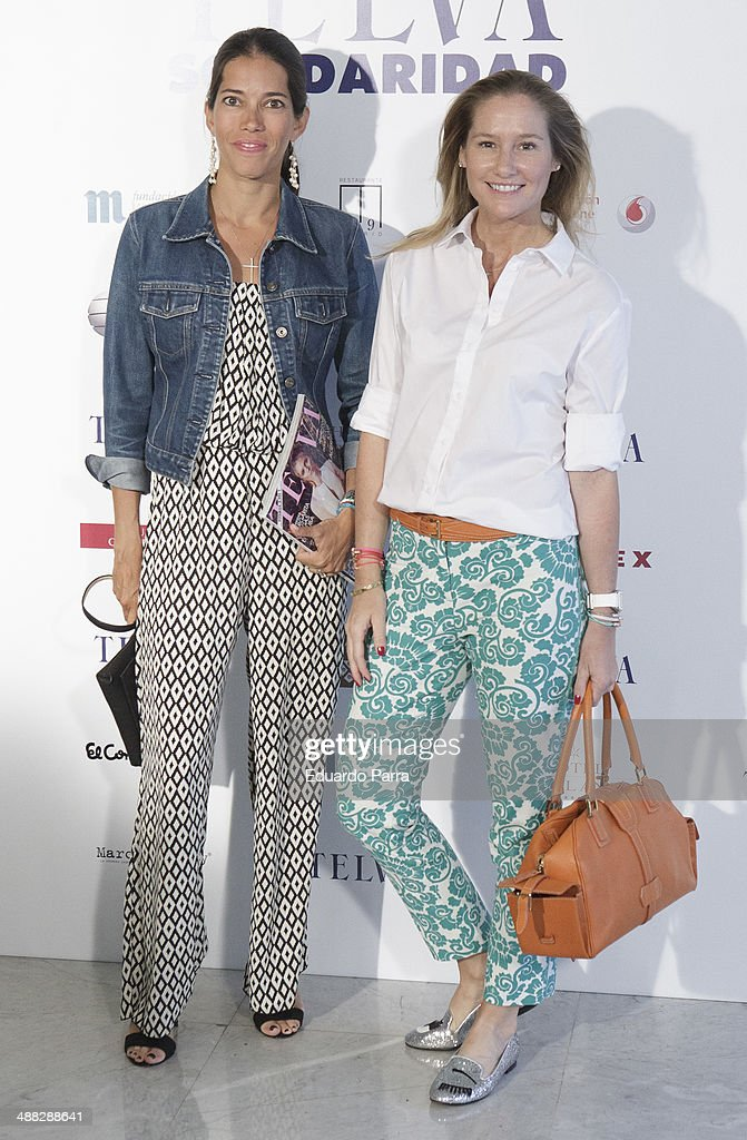 Fiona Ferrer (R) attends the 'Telva solidarity awards' photocall at Miguel Angel hotel on May 5, 2014 in Madrid, Spain.