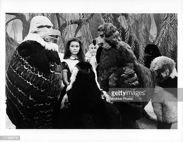 Fiona Fullerton with William Ellis as Dodo in a scene from the film 'Alice's Adventures In Wonderland' 1973