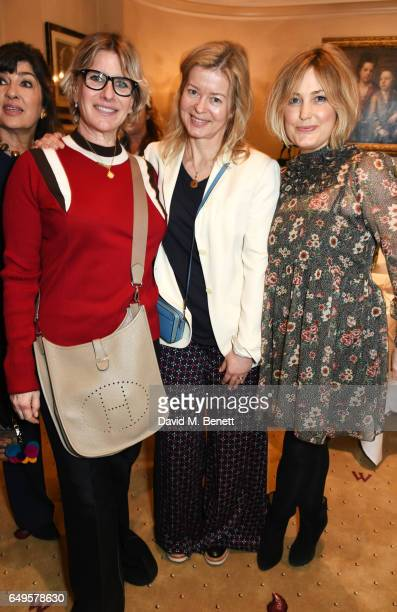 Fiona Golfar Lady Helen Taylor and Mika Simmons attend the International Women's Day lunch at Wiltons on March 8 2017 in London United Kingdom