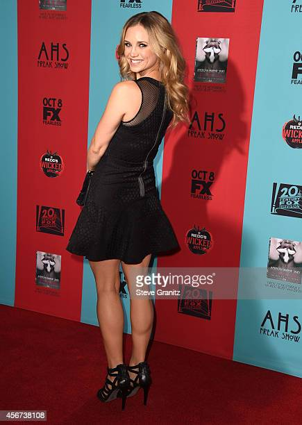 Fiona Gubelmann arrives at the 'American Horror Story Freak Show' Los Angeles Premiere at TCL Chinese Theatre IMAX on October 5 2014 in Hollywood...