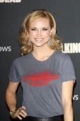 Fiona Gubelmann arrives at the Los Angeles premiere of AMC's 'The Walking Dead' 4th season held at Universal CityWalk on October 3 2013 in Universal...