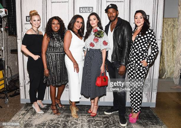Fiona Gubelmann Star Jones Vanessa Williams Chloe Bridges McKinley Freeman and Camille Guaty attend the Build Series to discuss the new VH1 show...