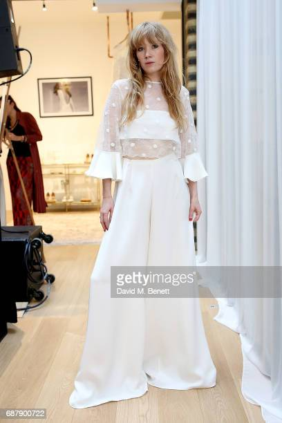 Fiona Jane DJ's at Australian bridal and occasion wear brand Grace Loves Lace launches first London showroom on May 24 2017 in London England