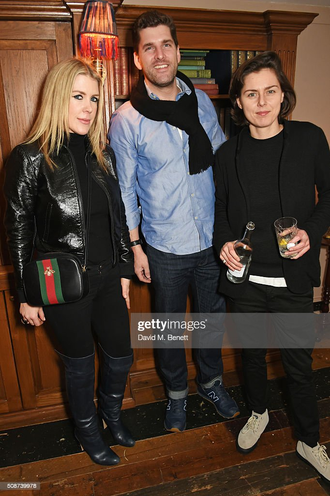 Fiona Leahy (L) and guests attend a special screening of 'The Uncountable Laughter of The Sea' at Soho House Dean Street on February 6, 2016 in London, England.