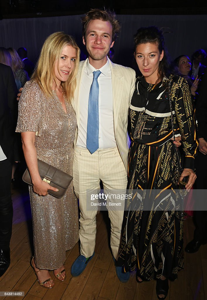 Fiona Leahy, Garrett Moore and guest attend the Summer Gala for The Old Vic at The Brewery on June 27, 2016 in London, England.