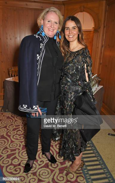 Fiona McCarthy and Kathleen Baird Murray attend a private dinner following the Warrior Games Exhibition VIP Preview hosted by HRH Princess Eugenie...