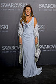 Fiona PacificoGrasser poses for a picture on the 'black' carpet of the grand reopening of the Swarovski Crystal Worlds on April 28 2015 in Wattens...