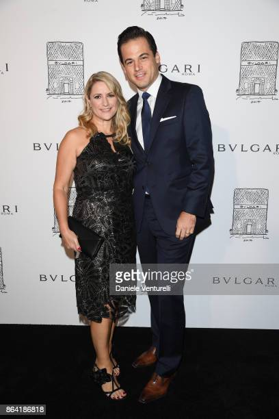 Fiona Paltridge and President of North America at Bulgari Daniel Paltridge attend a party to celebrate the Bvlgari Flagship Store Reopening on...