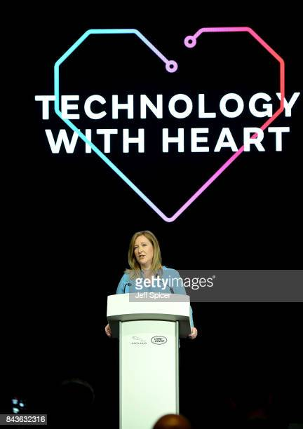Fiona Pargeter kickstarts the event Technology with Heart Jaguar Land Rover's Tech Fest at Central St Martins on September 7 2017 in London England